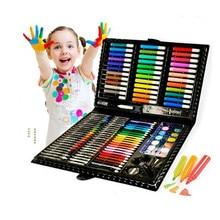 150 шт./компл. детский набор для рисования, ручка для акварели, карандаш, масляная Пастельная кисть, инструмент для рисования, набор художеств...