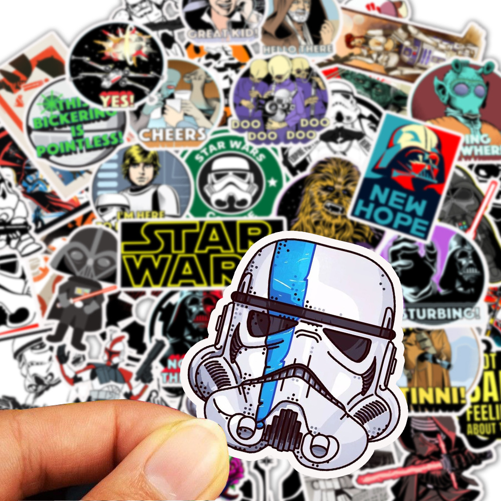 50pcs Cartoon StarWars Waterproof Children Stickers Skateboard Guitar Suitcase Freezer Graffiti Sticker Kids Classic Toy