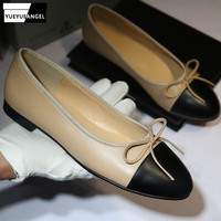 Designer Original Mixed Color Slip On Women Shoes Fashion Genuine Cow Leather Shoes Luxury Brand Comfortable Ladies Flats Shoes
