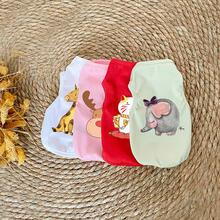 Одежда для собак Рождество одежда с принтом в виде маленьких