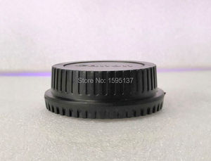 Image 3 - SLR camera body cap rear lens cap front cover for Canon (free shipping + tracking number)