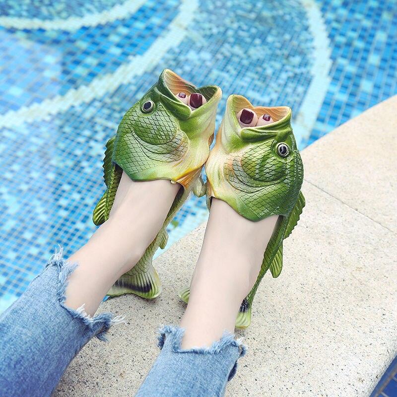 Women's Beach Slippers Flip Flops Lrage Size 32-47 Fashion Fishing Slippers Woman Summer Shoes 2020
