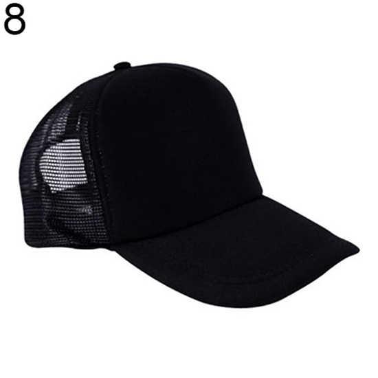 Moda Unisex güneş vizör ışığı kurulu net şapka kamyon şapka reklam kap kamyon şoförü şapkası beyzbol Golf örgü ayarlanabilir şapkalar