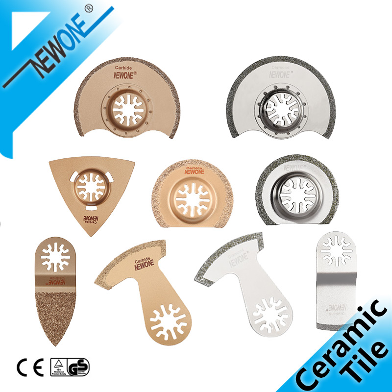NEWONE Carbide Oscillating Tool Saw Blade For Polishing, Diamond Multitool Saw Blades Grinding Removing Grout And Ceramic Tile
