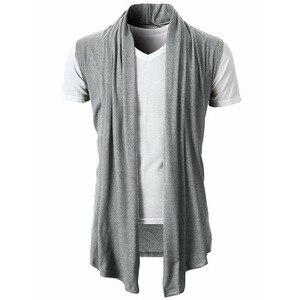 Новый мужской модный кардиган без рукавов, куртка, пальто, шаль, жилет, топ, Прямая поставка, хит продаж, рекламная одежда