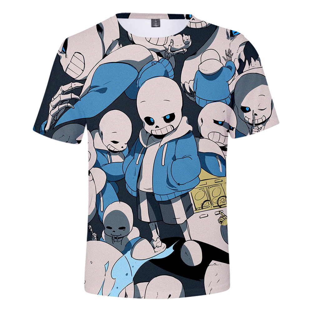 Undertale Sans Boys Girls Long Sleeve Graphic Fashion T-Shirt