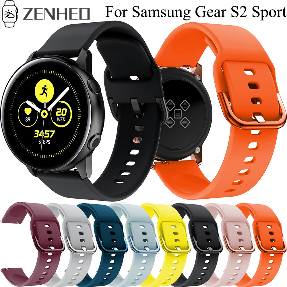20mm Watch Strap For Samsung Galaxy Watch Active/Active 2 Silicone Watchband For Samsung Gear S2 /Galaxy Watch 42mm Band