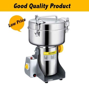 2500G Stainless Steel Chinese Medicine Swing Grinder Household Electric Powder Machine