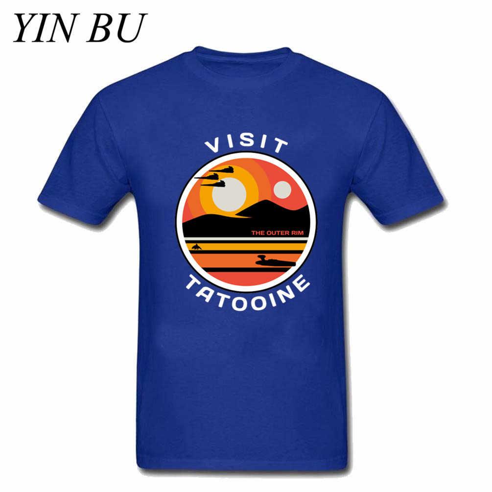 抗トミ社会夏男性の Tシャツ訪問タトゥイーンスターウォーズ黒 Tシャツマンヒップスターメンズファッション綿ボーイズ Tシャツトップ tシャツクラブ
