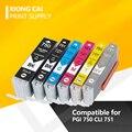 6 шт.  PGI 750 CLI 751 для принтеров Canon MG6370 MG7170 MG7570 IP8770 MG6770 MG6670  совместимый картридж с чернилами  PGI-750 PGI750