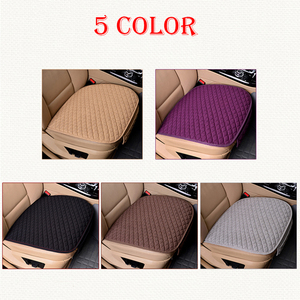 Image 2 - Linen Fabric Car Seat Cover Four Seasons Front Rear Flax Cushion Breathable Protector Mat Pad Auto Accessories Universal Size