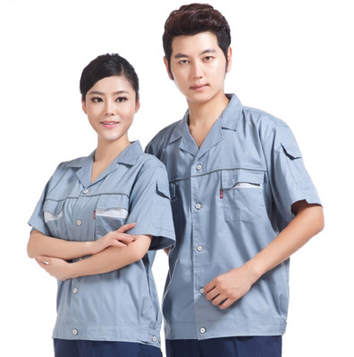 Short Sleeve Suit Summer Overalls Tooling Uniforms Factory Direct Production Auto Repair Service