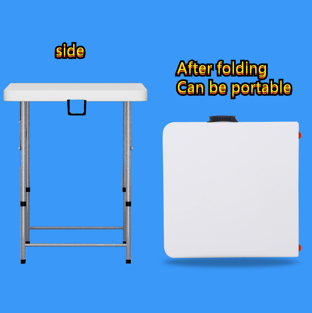 Folding table Portable outdoor picnic stall for eating, simple household small apartment dining table and chair rectangle waterp