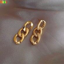 Kshmir-pendientes Punk para mujer, aretes de cadena de nuevo estilo, pendientes de diseño sencillo y cadena metálica geométrica 2020
