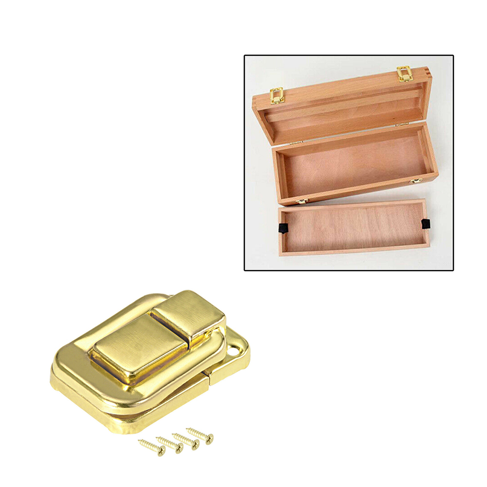 10pcs Antique Brass Wooden Case Hasp Vintage Decorative Hasp Latch for Jewelry Wooden Box Furniture Hardware