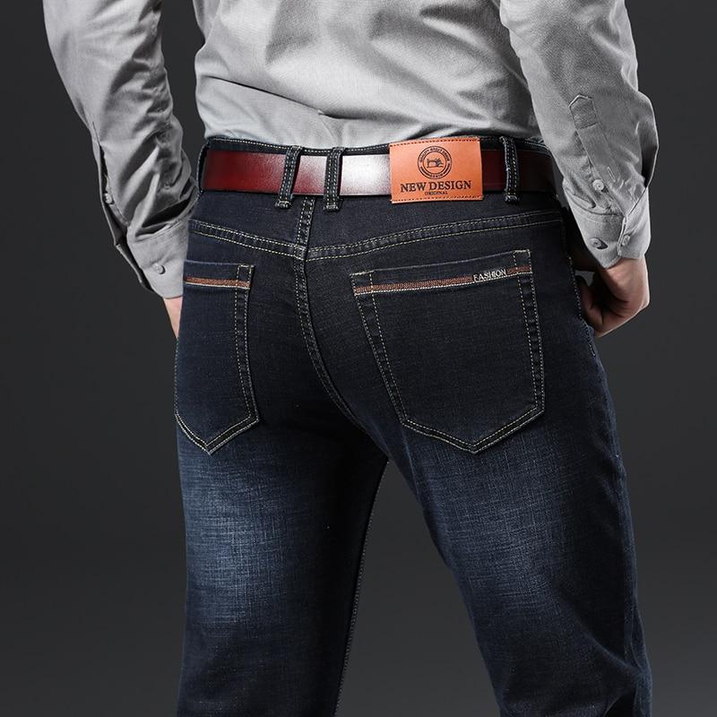 H76ed1da1aa9a4a9fb1e241a2c39bcae7M - 2020 New Design Jeans Mens Pants Cotton Deniem Classic Trousers Casual Stretch Slim High Quality Black Blue Multiple Styles