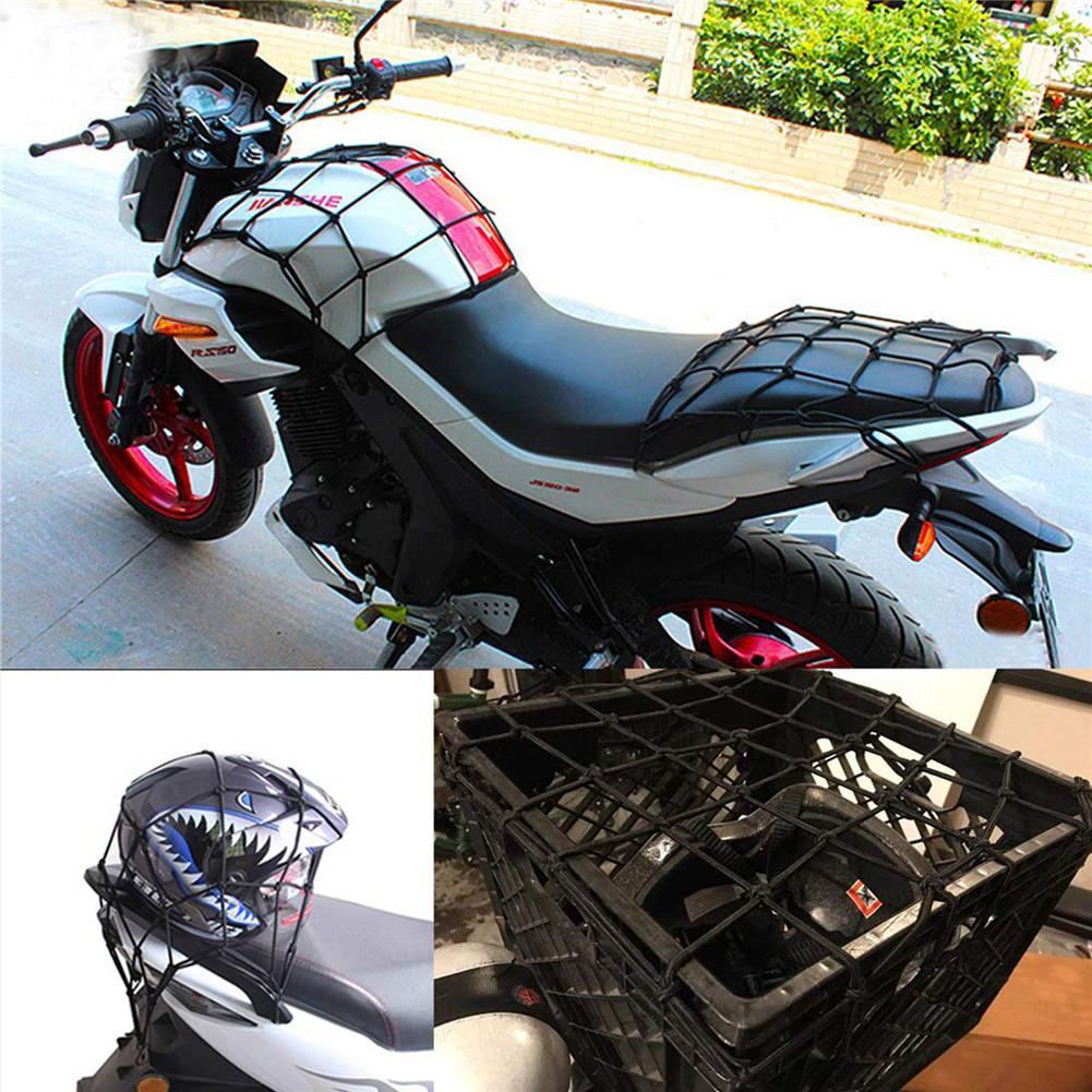 Bike It Cargo Net 6 Hook Motorcycle Luggage Net Black  300mm x 300mm NETBLK T