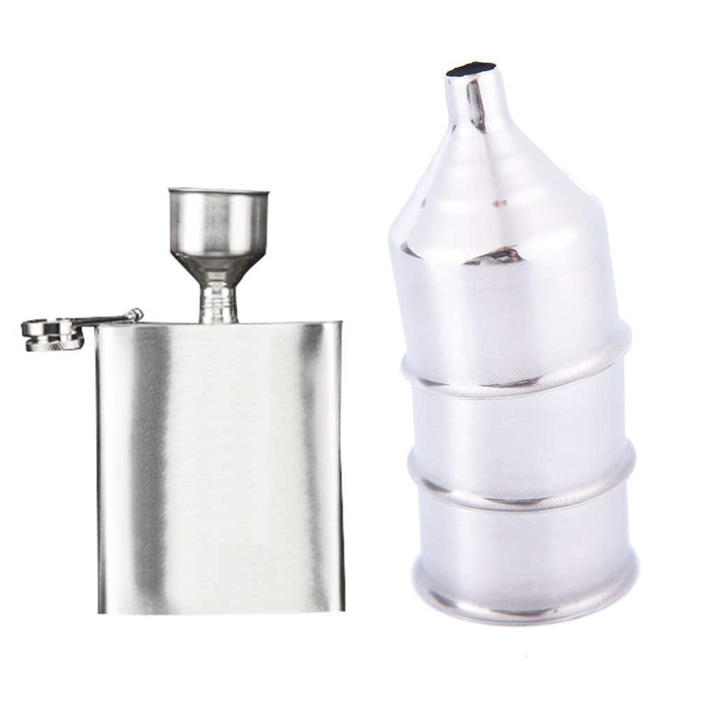 High Quality Stainless Steel Wide Mouth Funnel For Hip Flasks Flask Wine Pot Flagon