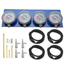 Teste kit medidor de vácuo balancer motocicleta acessório ferramenta de diagnóstico fácil instalar controle calibração carburador sincronizador