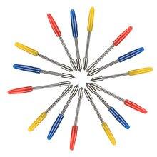 5pcs ไวนิลแกะสลักเครื่องแกะสลักใบมีดตัดสำหรับ Graphtec CB09 ตัดไวนิลจับเส้นผ่าศูนย์กลาง: 1 มม.ความยาวโดยรวม: 20 มม