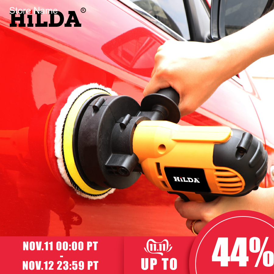 HILDA 600W Car Polisher Machine Auto Polishing Machine Adjustable Speed Sanding Waxing Tools Car Accessories Powewr Tools