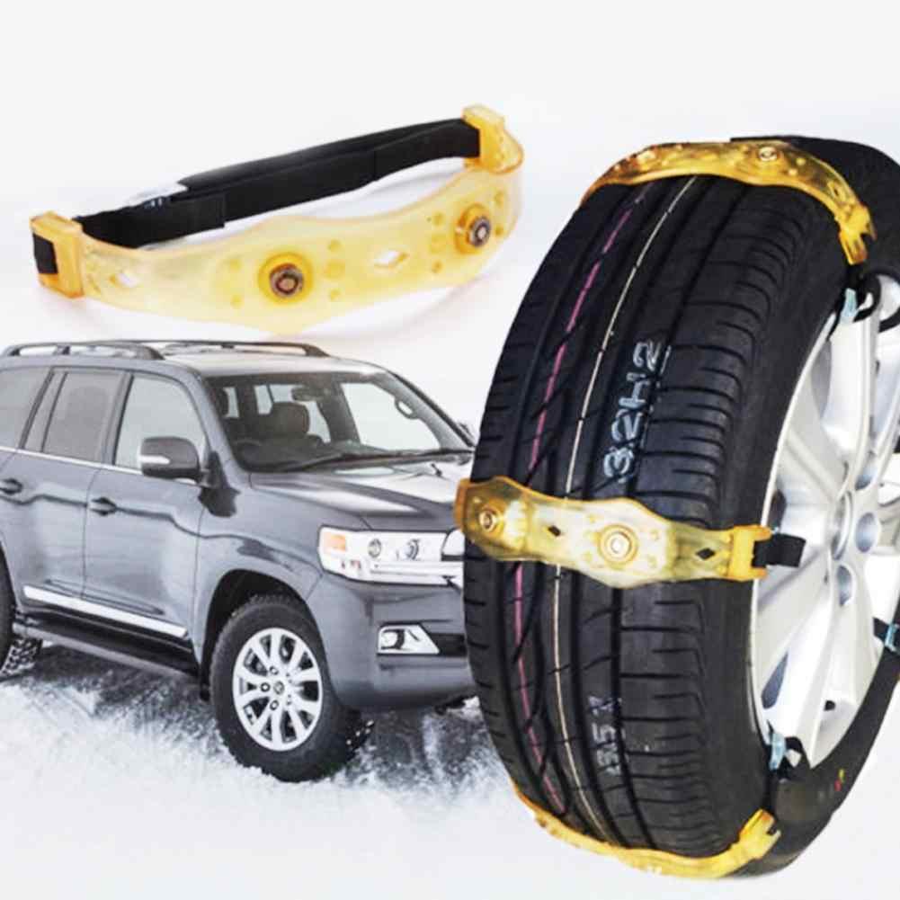 4 Uds rueda de coche de invierno antideslizante seguridad neumático de conducción neumáticos de nieve Mud Chain Belts 2019