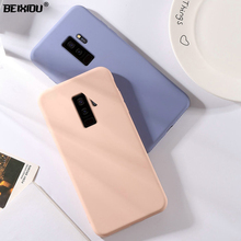 все цены на Liquid State case for Samsung Galaxy S9 TPU silicone soft case for Samsung S9 Plus Matte Color Back cover Case capa онлайн