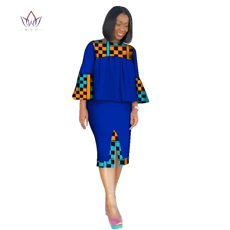 Circles Ankara Two Piece Skirt Set African Skirt Set