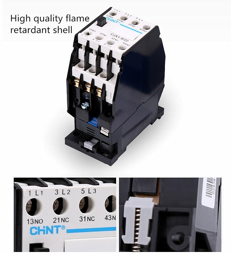 New Delixi CJX1-9 CJX1-9//22  3TB40  9A  AC Contactor Brand