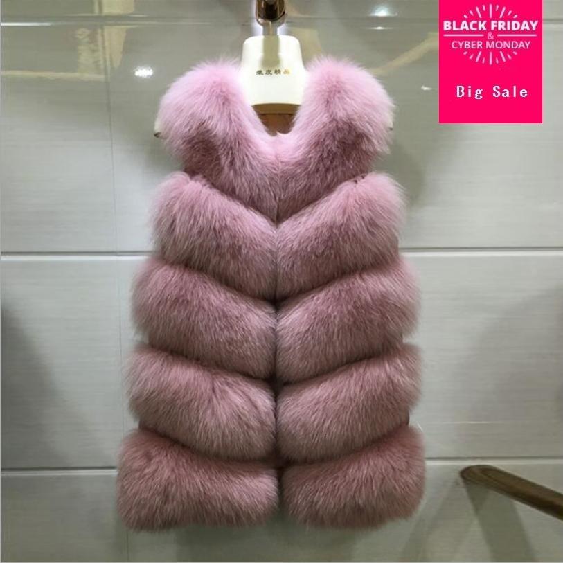 Winter women's jacket faux fox fur coat vest imitation fur waistcoat female sleeveless patchwork fur outwear slim jacket L1553