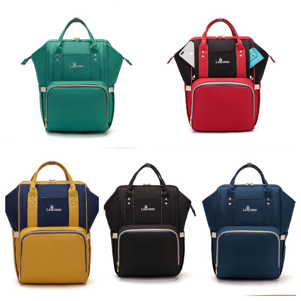 Lequeen-sac à couches imperméable 8 couleurs | Sac à dos de Charge USB, sac à main de grande capacité pour soins, sacs poussette, sac à couches soins pour bébé