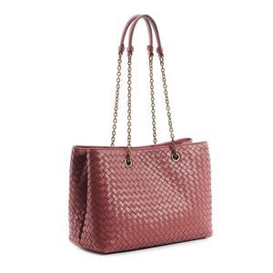 Image 2 - Womens Shoulder Bag 100% Sheepskin Leather Tote Shopping Bag Luxury Brand Design Handbag Fashion Simple Large Capacity 2020 New