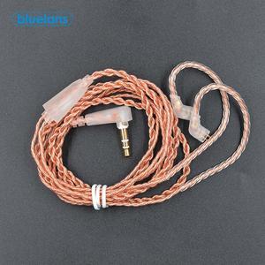 Высокая чувствительность Замена прочный стерео наушники 0,75 мм с золотым напылением B/C Pin кабель для наушников с микрофоном для KZ-ZST/ES4 KZ-ZSN