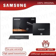 Samsung unidade de estado sólido, ssd de 860 evo 250gb 500gb 1tb sata 3 2.5 polegadas hdd duro disco hd sata iii ssd para computador e laptop