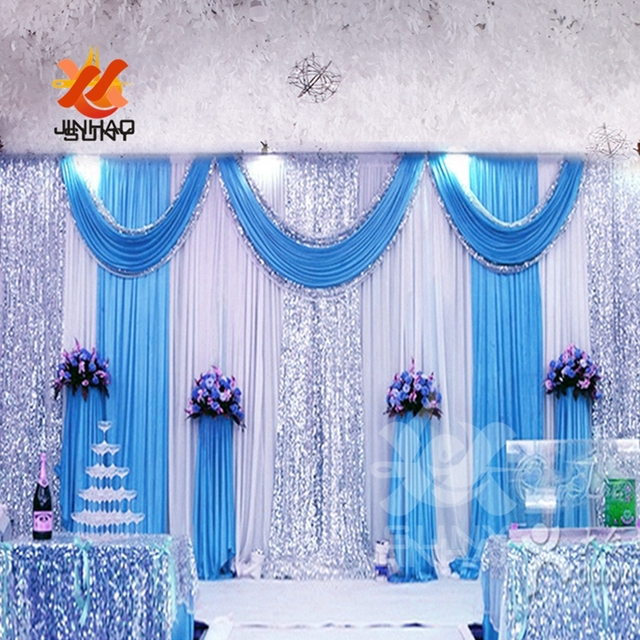 The  Cheap Wholesale Ice Silk Sequin Cloth Drapery Wedding Background