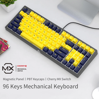 Mechanical Keyboard Gamer 96 PBT Keys Gaming Keyboard Cherry MX Blue/Black/Brown/Red Switch USB Wired DIY Keyboad For PC/Laptop