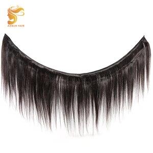 Image 2 - AOSUN бразильские волосы, плетеные пряди волос, пряди с застежкой, 100% человеческие волосы для наращивания, волосы Реми, естественный цвет