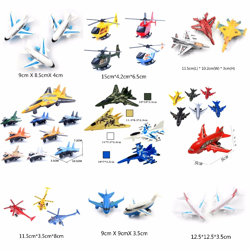 Multi Styles 1PCS Air Bus Model Kids Children Fashing Airliner Passenger Plane Toy Passenger Model Random Color