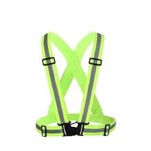 Reflective Vest With Adjustable Elastic Safety Outdoor Belt, Ultralight & Comfy for Running, Jogging, Walking