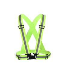 Reflective vest with adjustable elastic safety outdoor reflective