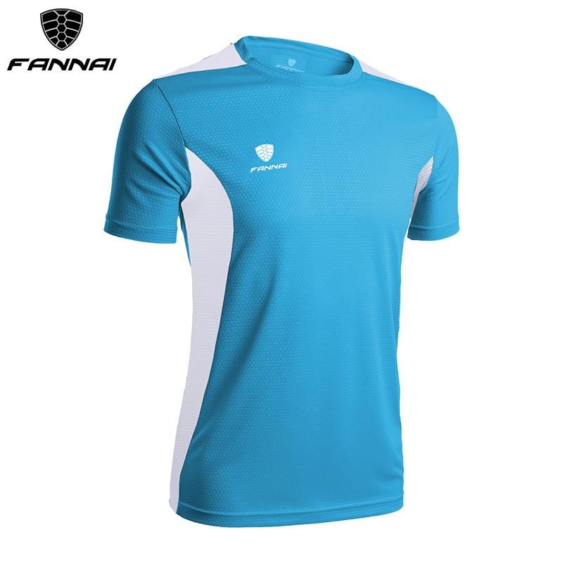 FANNAI Soccer Jerseys Men Customized Slim Fit Short-sleeve Sport shirt Football Shirts Training Summer Running Soccer Jersey