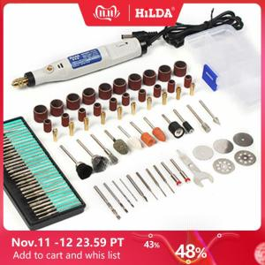 Image 1 - HILDA 18V Engraving Pen Mini Drill Rotary tool With Grinding Accessories Set Multifunction Mini Engraving Pen For Dremel tools