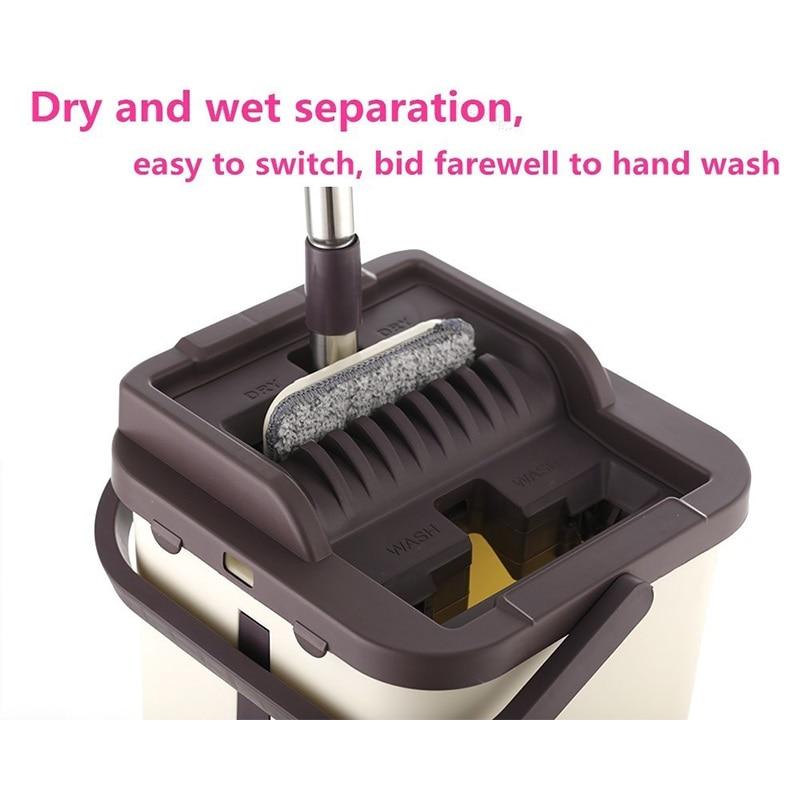 Image 5 - Prémio Magia Esfregão E Balde Sistema Com Free Hand Wash  Microfibra Mop Cabeça Substituição Uso em Piso de Madeira Laminado  TelhaEsfregão