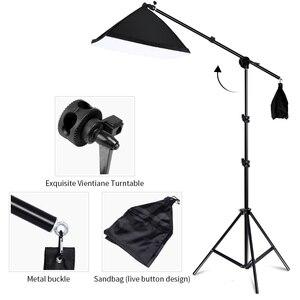 Image 4 - Профессиональный световое Фотооборудование комплект с софтбоксом мягкий зонтик фоновая стойка фронтальное освещение лампы Фотостудия