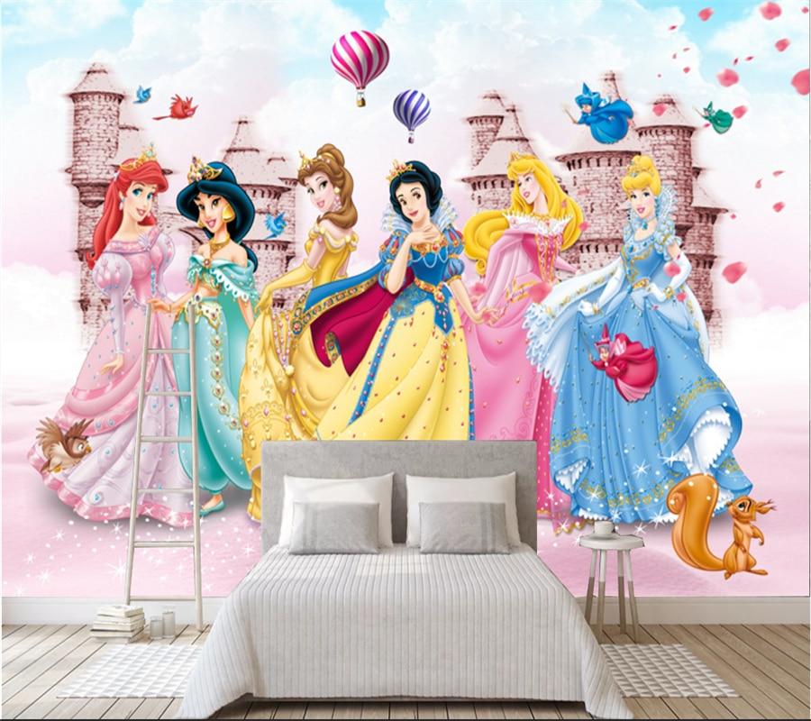 Wallpaper Mural 3D Custom Background-Decorative Girl Princess Children's