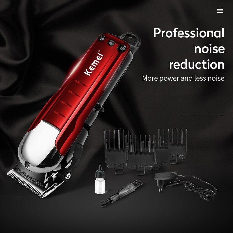 Kemei professionnel tondeuse à cheveux sans fil puissant tondeuse à cheveux coupe-cheveux Machine électrique coupe cheveux barbe rasoir barbier