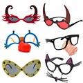 Фотореквизит для праздничной вечерние НКИ, очки с красными улыбающимися рогами, клоуном, демоном, забавные очки для детей и взрослых