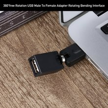 Audio Adapter 360 free Rotation USB Male To Female Adapter USB Male To Female Rotating Bending Interface A Male To A Female