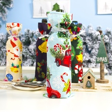 Christmas Dustproof Bottle Cover Bag Ribbon String Holiday H