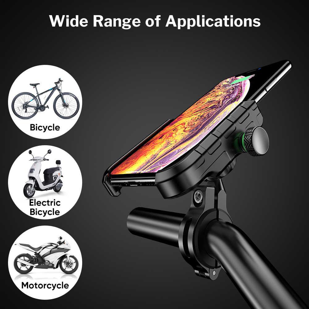 Deelife-Support Mobile pour téléphone Moto | Support pour Smartphone Moto moteur guidon Support pour Moto avec chargeur sans fil
